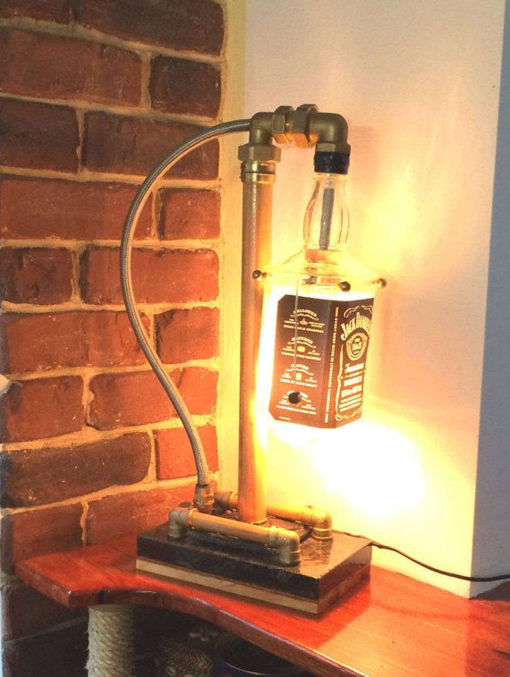 Jack Daniel's lamp by HandmadelampsDesign on Etsy