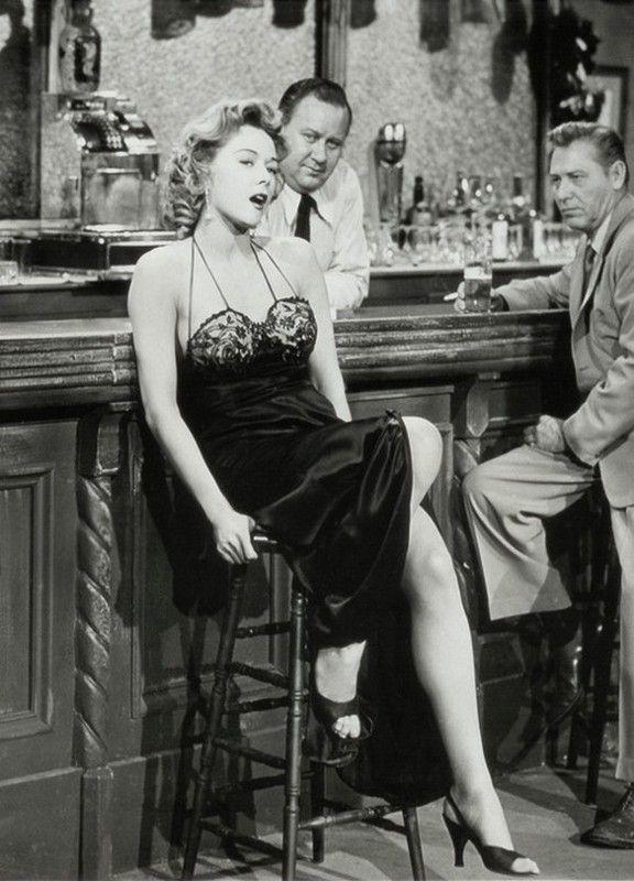 """Gloria Grahame  in Jerry Hopper's film, """"Naked Alibi,"""" 1954"""