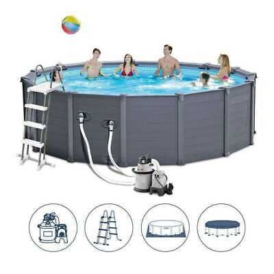 Piscina Fuori terra Rigida Piscina INTEX 26384 GRAPHITE