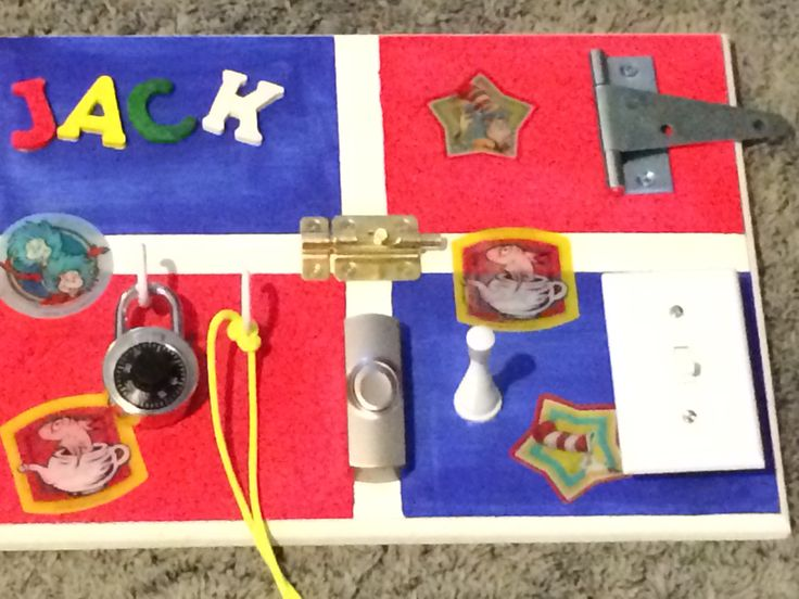 Sensory Board for baby/toddler! My 8 month old loves it !