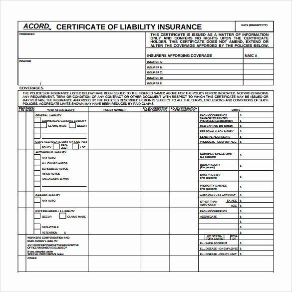 20 Car Insurance Certificate Template ™   Dannybarrantes ...