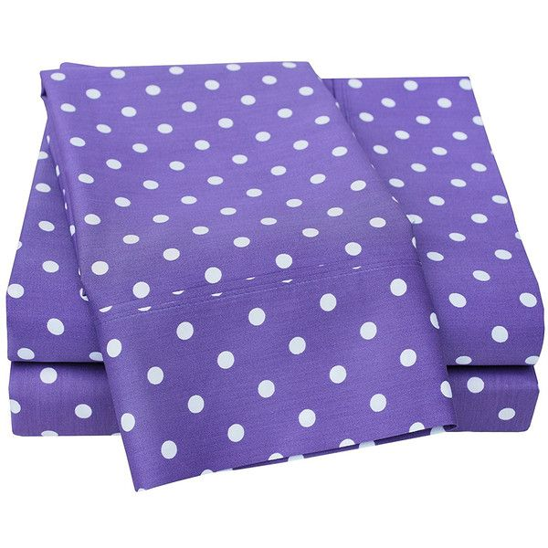 polka dot twin xl sheet set 58 liked on polyvore featuring home
