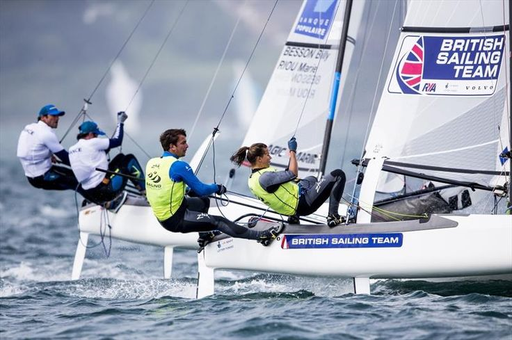 Sixth in the Medal Race was enough for Ben Saxton and Nicola Groves (GBR) to win gold in the Nacra 17. The pair held the lead heading into the final day.
