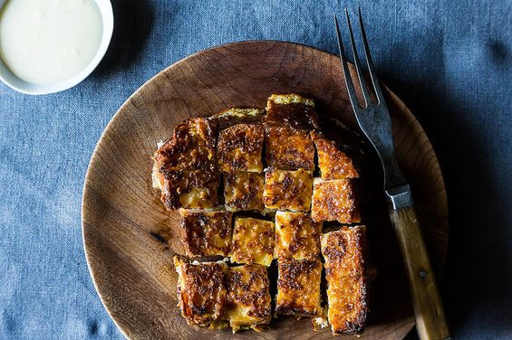 A decadent take on french toast! Darjeeling Tea Pain Perdu with Condensed Milk Butter