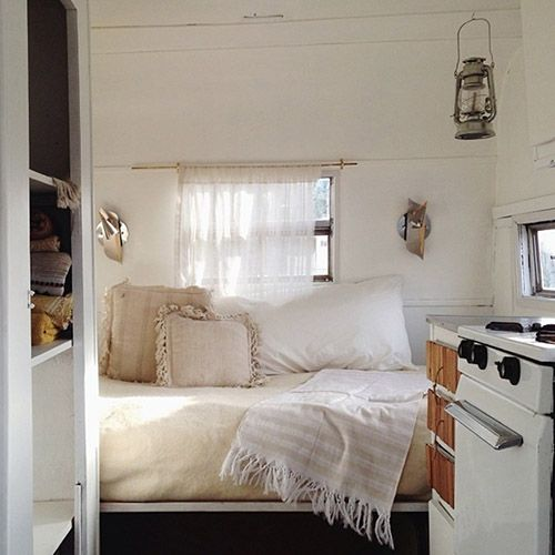 Talk about decorating for a small space - check out this 1950s camper renovation from #DesignSponge