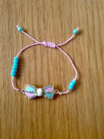#pink #brightgreen #bracelet #summercolors #