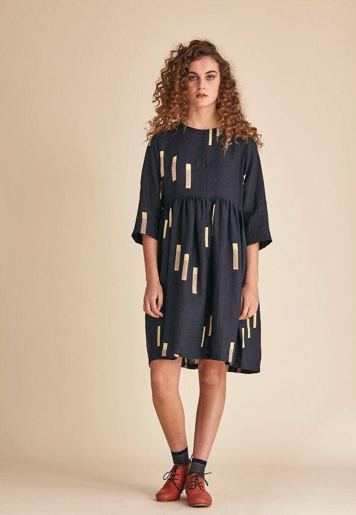 Tidal Dress - Navy Marker