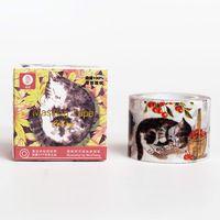 Vintage Pussycat Disegno Adesivo Washi Maschera Nastro Adesivo 10 m Diy album di carta Nastri Decorativi Adesivi Cancelleria Giapponese