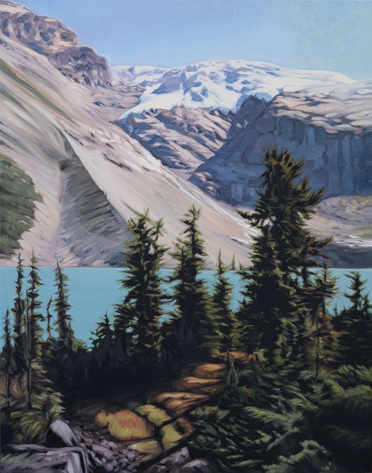"""Hyperboreal"". Oil on Canvas. 2016. 22""x28"". Collin Elder. www.collinelder.com"