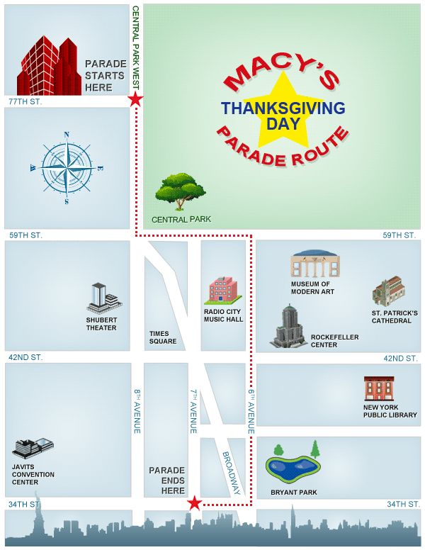 The Macy's Thanksgiving Day Parade Route Map Someday ......