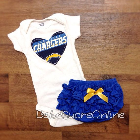 San Diego Chargers Girls Outfit by BebeSucreOnline on Etsy, $30.00