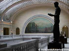 Statue of Philo Farnsworth, Father of TV in Salt Lake City, Utah