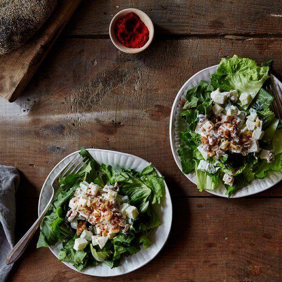 New York's most famous salad: The Waldorf salad— a classic, no frills version.
