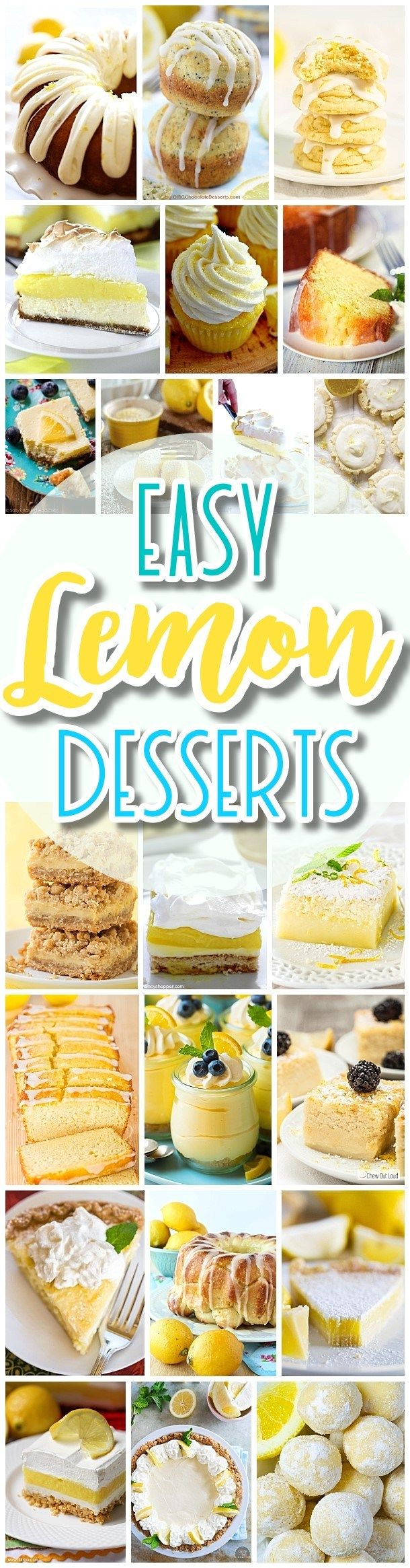 The BEST Easy Lemon Desserts and Treats Recipes - SPRING and SUMMER in dessert form! Perfect For Easter, Mother's Day Brunch, Bridal or Baby Showers and Pretty Spring and Summer Holiday Party Refreshments - Dreaming in DIY