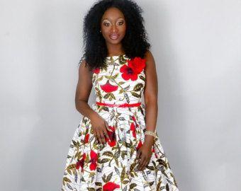 Verkauf neu IN afrikanische Kleidung Damen Kleid von Nasbstitches