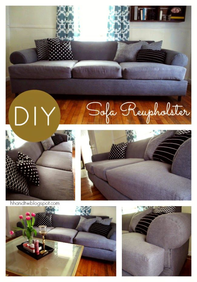 High Heels and Training Wheels: DIY Couch Reupholster With a Painter's Drop Cloth Part 2: The Cushions