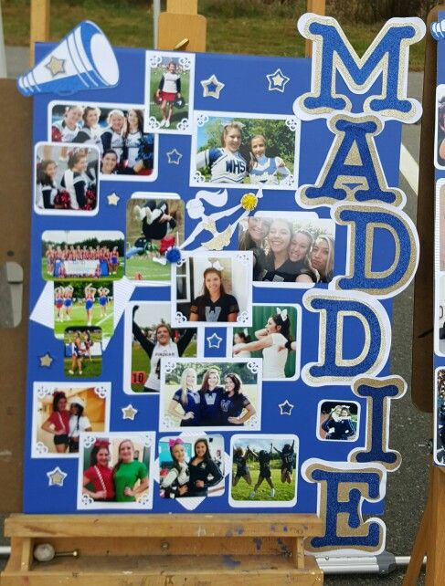 Senior Day Memory Board for the Varsity Cheerleaders.