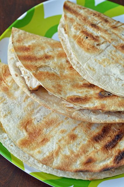 Grilled Chicken Quesadilla by Pennies on a Platter