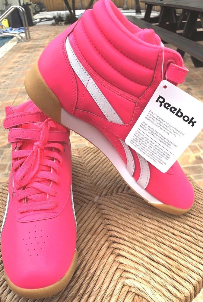 ec158d8e32e Reebok Tennis Shoes Freestyle Acid Pink white Women Size 8.5