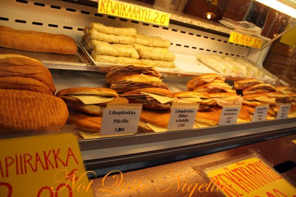 Helsinki Finland Market Hall and Square lihapiiraka sandwiches
