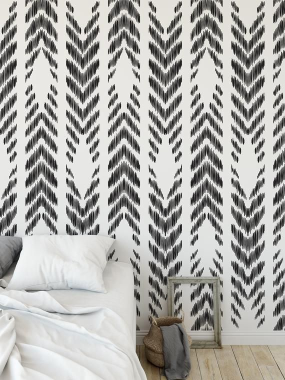High Quality Repositionable Removable Self Adhesive Peel And Etsy Peel And Stick Wallpaper Vinyl Wallpaper Tribal Wallpaper