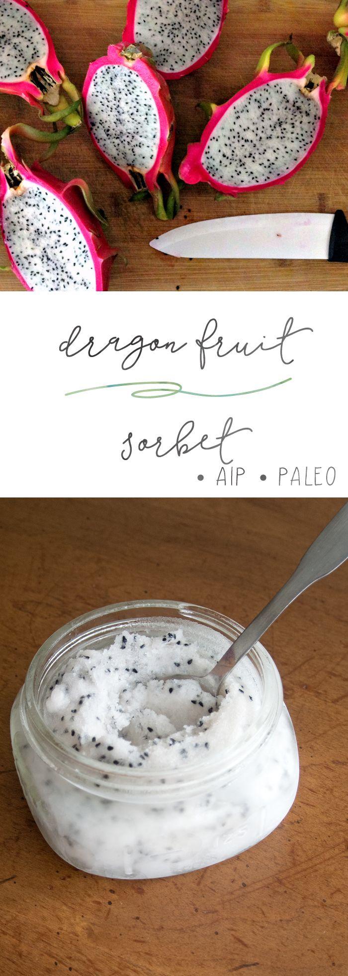 Dragon Fruit Sorbet | Enjoying this Journey...