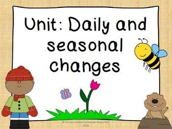 English Unit - Daily and Seasonal Changes