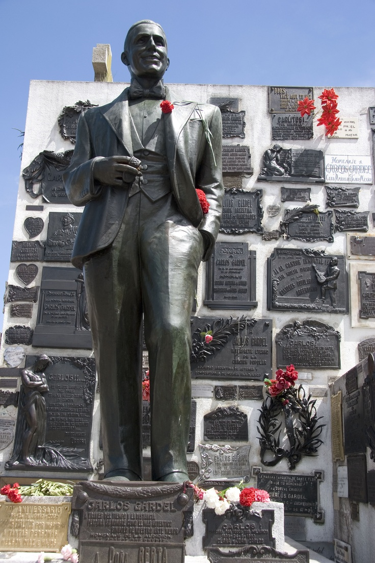 "http://www.facebook.com/argentina.buenosaires    http://www.twitter.com/bairestuitea    Much larger than it's more celebrated ""competitor"" in Recoleta, Chacarita Cemetery is best known for being the final resting place of tango legend Carlos Gardel.  #BuenosAires #LikeaLocal #Travel #Argentina #Michelin"