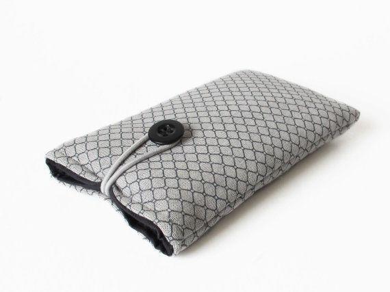iPhone 4 s sac main tissu gris à motifs noir rembourré de la couverture 3 G 3GS 4 5 5 s 5 C.