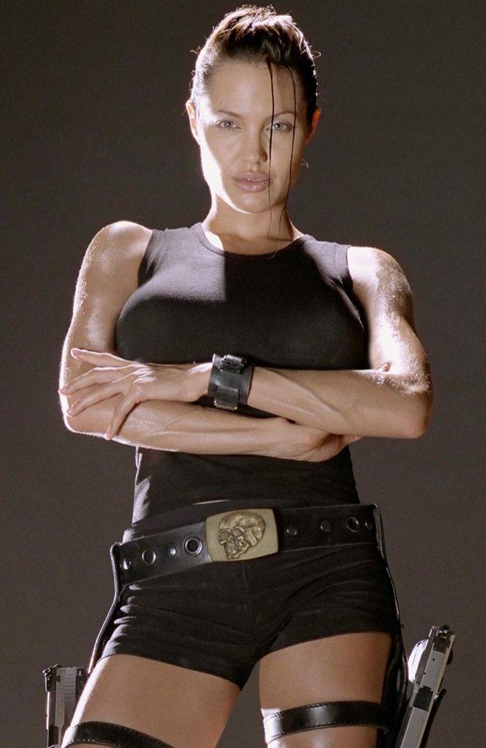 Angelina Jolie | Movie black, Tomb raider movie, Lara croft