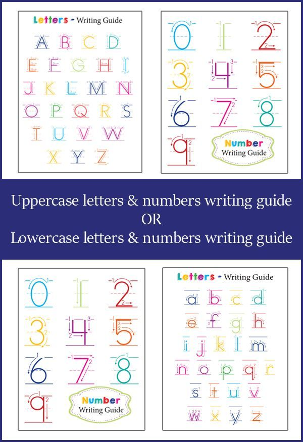 FREE Preschool Writing Guides. These offer both letter and number writing guides!!