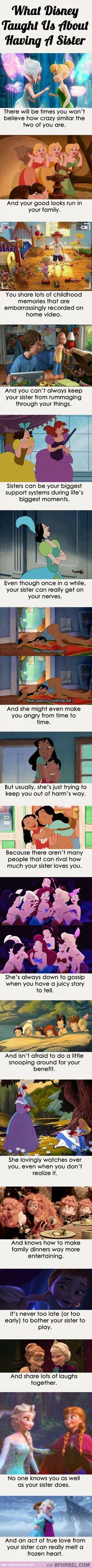 I love my sister! Disney just makes me love her more........................