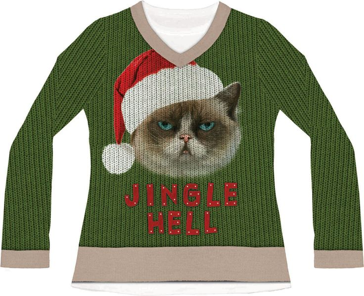 9 best Ugly Sweater images on Pinterest | La la la, Mürrische katze ...