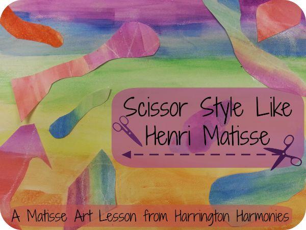 Henri Matisse Art Lesson for Kids on Harrington Harmonies at http://harringtonharmonies.com/2014/04/henri-matisse-art-lesson.html