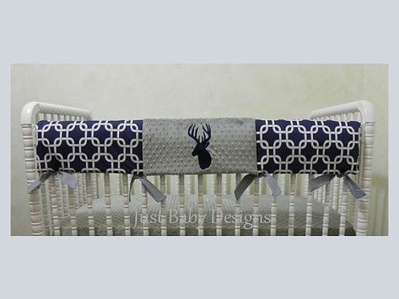 Hey, I found this really awesome Etsy listing at https://www.etsy.com/listing/217611665/crib-rail-guard-cover-boy-baby-bedding
