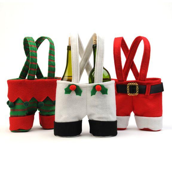 Santa wine bottle holder-SO cute!