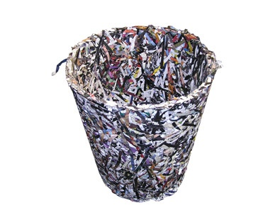 Shredded Paper Recycling Bin