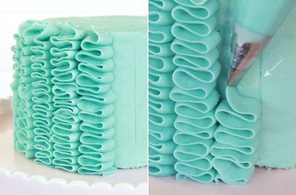 Cómo hacer un ruffle cake paso a paso