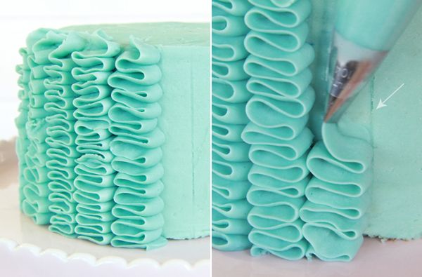 How to Make a Ruffle Cake - Step-by-Step Tutorial: