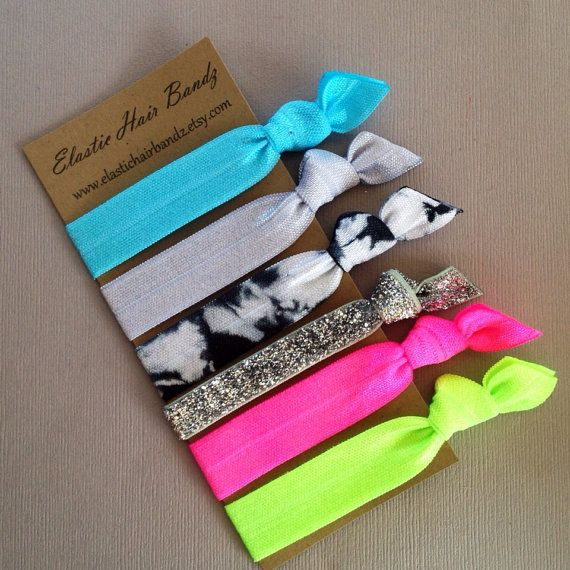 The Cassy Hair Tie - Ponytail Holder Collection - 6 Elastic Hair Ties by Elastic Hair Bandz on Etsy