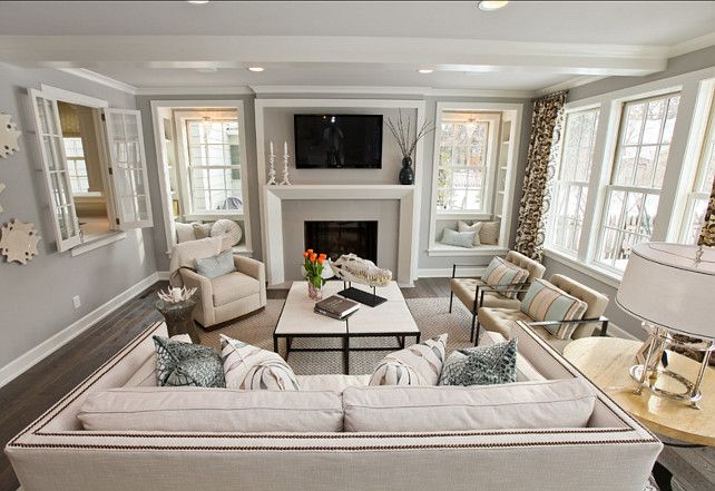 Stonington Grey Benjmin Moore - Living Room color