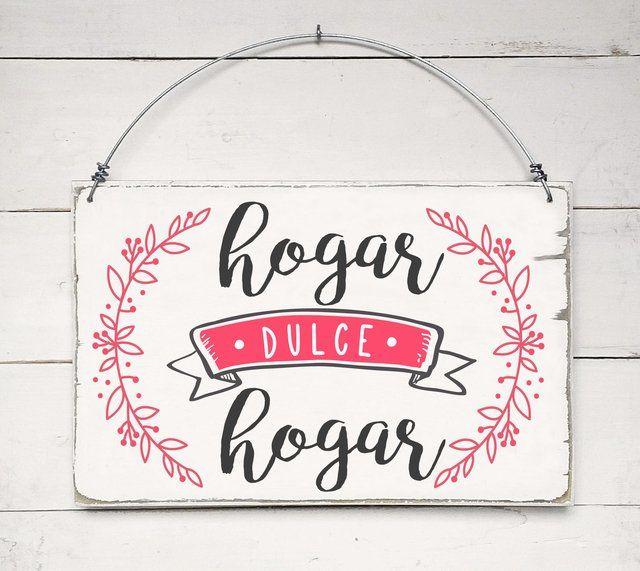 Cuadro Vintage con Frase - Hogar Dulce Hogar