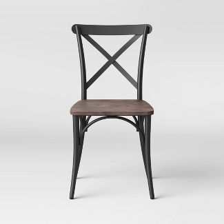 Malden French Bistro Dining Chair with Wood Seat ...