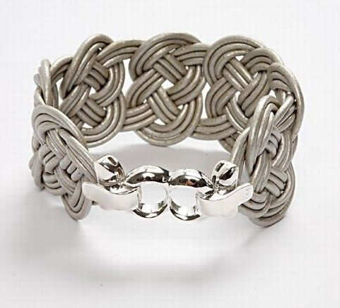 A Braided Leather Bracelet