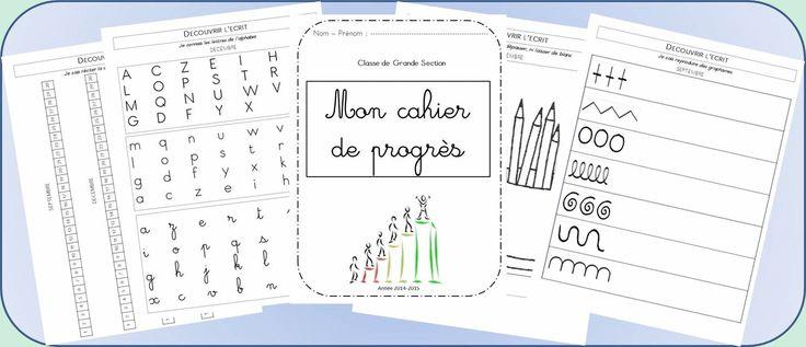 Cahier de progrès Grandes Sections - La classe d'Ameline