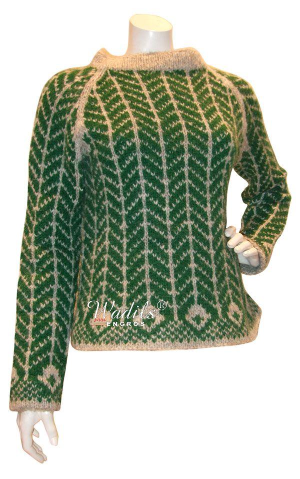 Retrosweater med sildebens mønster