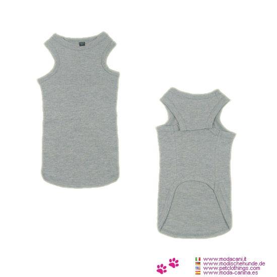 Weste für Dackel in Grau - Weste in Grau für eine Dackel in unserem Online-Shop, spezialisiert auf Kleidung für Hunde: aus 100% Baumwolle, Waschen in kaltem Wasser