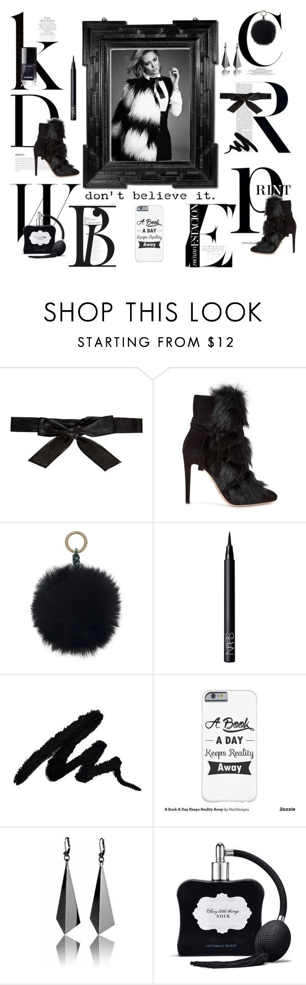 """A Book A Day Keeps Reality Away"" by fiona-reyes ❤ liked on Polyvore featuring BoConcept, Ultimate, Alice + Olivia, Gianvito Rossi, Oscar de la Renta, NARS Cosmetics and Victoria's Secret"