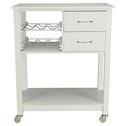 Premier Housewares Kitchen Trolley in White