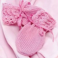 Knit baby mittens - three styles, one pattern